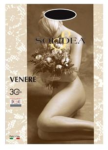 Solidea Venere 30 DEN Collant Compressivo Colore Blu Moka Taglia 3