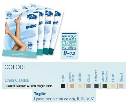 SAUBER COLLANT 40 DENARI MAGLIA LISCIA NEUTRO BEIGE 4 LINEA CLASSICA - Farmaciaempatica.it