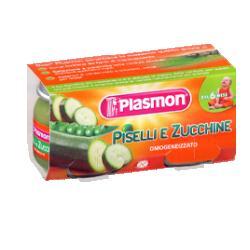 PLASMON OMOGENEIZZATO PISELLI ZUCCHINE 80 G X 2 PEZZI - La farmacia digitale