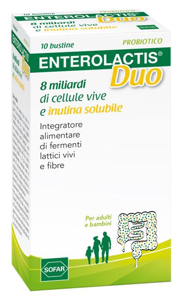 ENTEROLACTIS DUO POLVERE 10 BUSTINE - Farmaciasvoshop.it