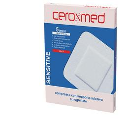 GARZA COMPRESSA AUTOADESIVA CEROXMED DRESS SENSITIVE 10X10 CM 5 PEZZI - Farmaunclick.it