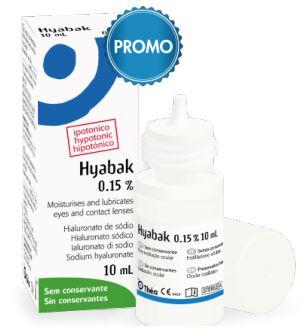 HYABAK PROTECTOR SOLUZIONE OFTALMICA SODIO IALURONATO 0,15% FLACONE 10ML - Farmabros.it