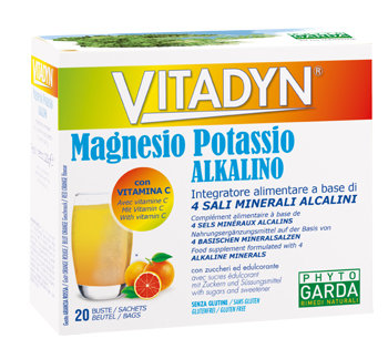 VITADYN MAGNESIO POTASSIO ALKALINO 20 BUSTINE - Spacefarma.it