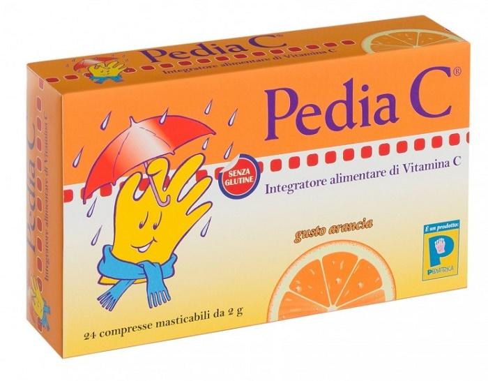 PEDIA C ARANCIA 24 COMPRESSE MASTICABILI - Farmacia Massaro