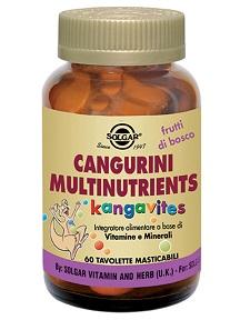 CANGURINI MULTINUTRIENTS FRUTTI TROPICALI 60 COMPRESSE - farmaventura.it