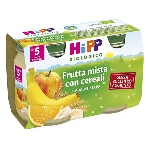 HIPP BIO HIPP BIO OMOGENEIZZATO FRUTTA MISTA CON CEREALI 2X125 G - Farmafamily.it