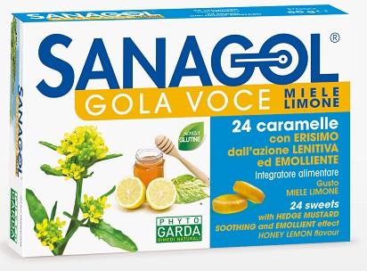 SANAGOL GOLA VOCE MIELE LIMONE 24 CARAMELLE - Farmaunclick.it