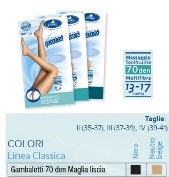 Sauber Linea Classica Gambaletto 70 Den Maglia liscia Colore  Nero Taglia  4