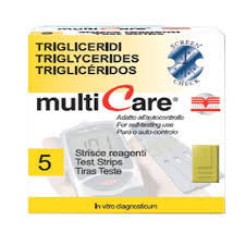 TEST MULTICARE TRIGLICERIDI IN STRISCE CHIP 5 PEZZI - Speedyfarma.it