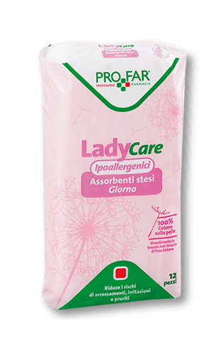LADY CARE ASSORBENTE DA GIORNO IPOALLERGENICO 12 PEZZI - Spacefarma.it