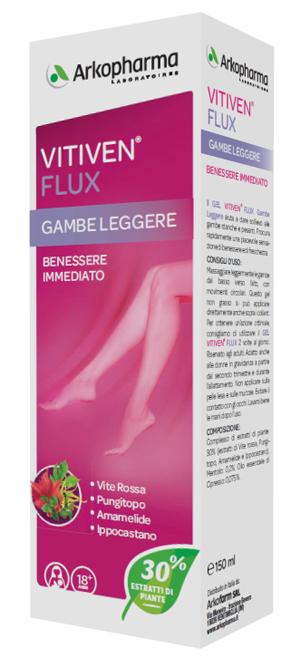 VITIVEN FLUX GAMBE LEGGERE CONFORTO & BENESSERE RIVITALIZZANTE 150 ML - FarmaHub.it