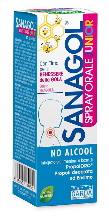 SANAGOL SPRAY JUNIOR PROPOLI FRAGOLA 20 ML - Biofarmasalute.it