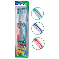 GUM SUPER TIP 463 COMPACT SPAZZOLINO MEDIO BONUS PACK 2 PEZZI - Farmapage.it