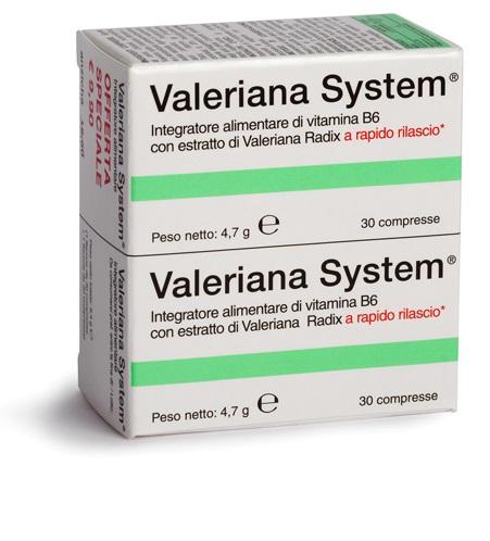 VALERIANA SYSTEM 30 COMPRESSE+30 COMPRESSE - farmaventura.it