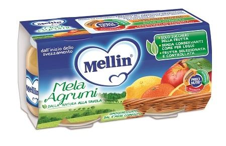 MELLIN OMOGENEIZZATO MELA AGRUMI 100 G 2 PEZZI - Farmacia Bartoli