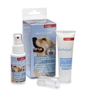 DENTALPET KIT DENTIFRICIO 50ML+SPRAY ORALE 50ML+1 DITALE - Farmaunclick.it