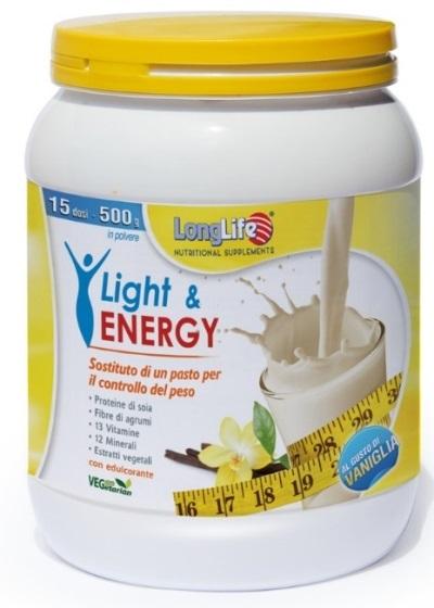 LONGLIFE LIGHT & ENERGY VANIGLIA 500 G - Farmabellezza.it