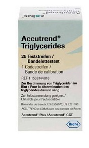 STRISCE REATTIVE PER TRIGLICERIDI ACCUTREND 25 PEZZI - Farmapage.it