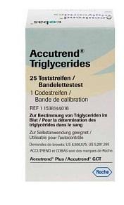 STRISCE REATTIVE PER TRIGLICERIDI ACCUTREND 25 PEZZI - Farmaseller