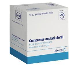 COMPRESSA OCULARE STERILE 10 PEZZI ALVITA - La farmacia digitale
