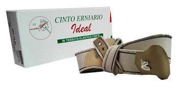 CINTO ERNIARIO IDEAL IN TESSUTO ELASTICO FORTE SINISTRO GRIGIO FRANGIATO 85CM - Farmabros.it