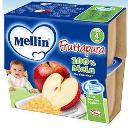 MELLIN FRUTTA PURA MELA 100 G 4 PEZZI - farmasorriso.com