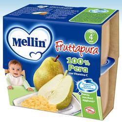 MELLIN FRUTTA PURA PERA 100 G 4 PEZZI - farmasorriso.com
