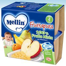 MELLIN FRUTTA PURA FRUTTA MISTA 100 G 4 PEZZI - farmasorriso.com