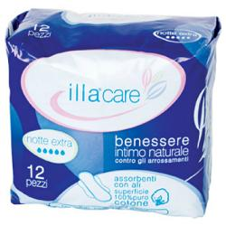 ILLA CARE ASSORBENTE NOTTE EXTRA 12 PEZZI - Farmafamily.it