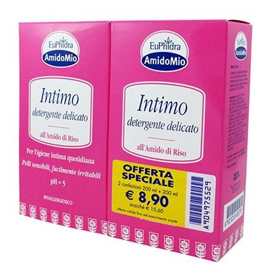 EUPHIDRA SCHIUMA INTIMA DETERGENTE 200 + 200 ML - Spacefarma.it