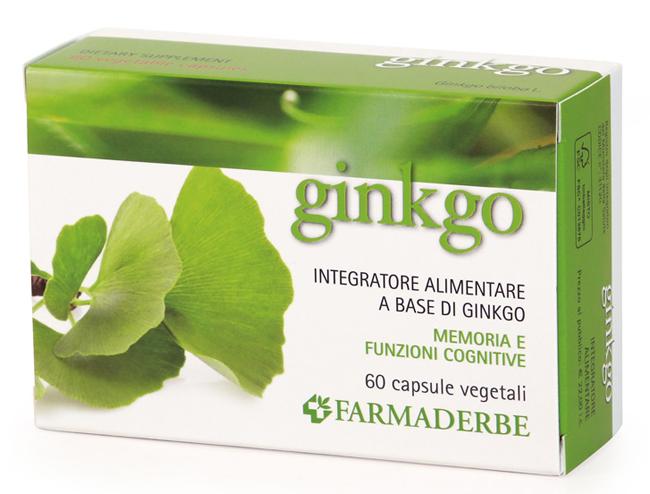 Farmaderbe Ginkbo Biloba Integratore Antiossidante 60 Capsule