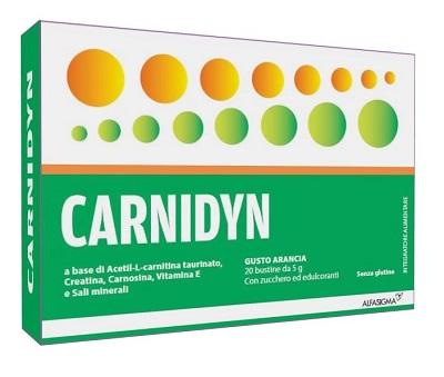 CARNIDYN 20 BUSTINE DA 5 G GUSTO ARANCIA - Biofarmasalute.it