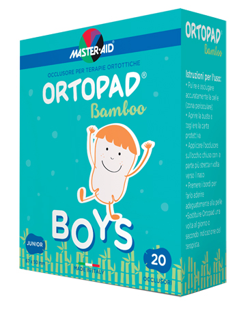 CEROTTO OCULARE PER ORTOTTICA ORTOPAD BOYS M 5,4X7,6 20 PEZZI - Farmastar.it