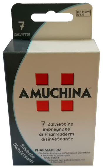 AMUCHINA SALVIETTE DISINFETTANTI 7 PEZZI - Farmastar.it