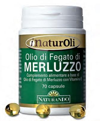 I NATUROLI OLIO DI FEGATO DI MERLUZZO 70 CAPSULE - Farmacia 33
