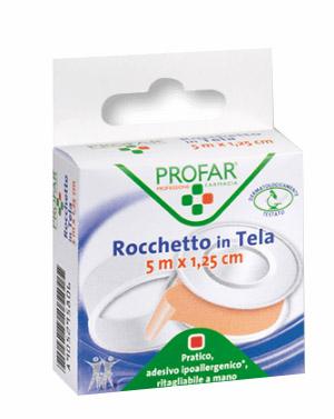 CEROTTO IN ROCCHETTO IN TELA PROFAR DIMENSIONI 5X1,25CM - Farmapage.it