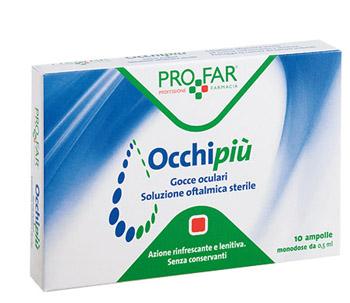 OCCHI PIU' GOCCE OCULARI RINFRESCANTI 10 FL DA 0,5 ML PROFAR - Turbofarma.it