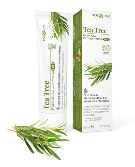 BIOSLINE TEA TREE POMATA EUDERMICA CERT ECOCERT 50 ML - FARMAEMPORIO