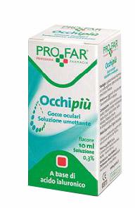 OCCHI PIU'SOLUZIONE UMETTANTE 10 ML 0,3% ACIDO IALURONICO - Farmawing