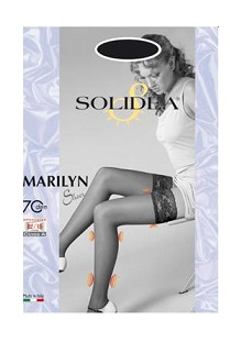 Solidea Marilyn Sheer 70 DEN Calza Autoreggente Compressiva Colore Blu Scuro Taglia 3
