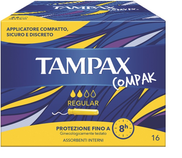 TAMPAX COMPAK REGULAR 16 PEZZI - Farmawing