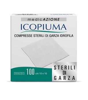GARZA COMPRESSA IDROFILA ICOPIUMA 10X10CM 100 PEZZI - Parafarmacia Tranchina