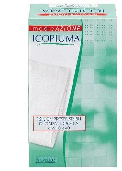 GARZA COMPRESSA IDROFILA ICOPIUMA 18X40CM 12 PEZZI - Carafarmacia.it
