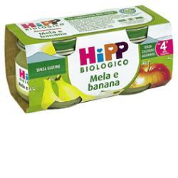 HIPP BIO OMOGENEIZZATO MELA BANANA 100% 2X80 G - Farmabellezza.it