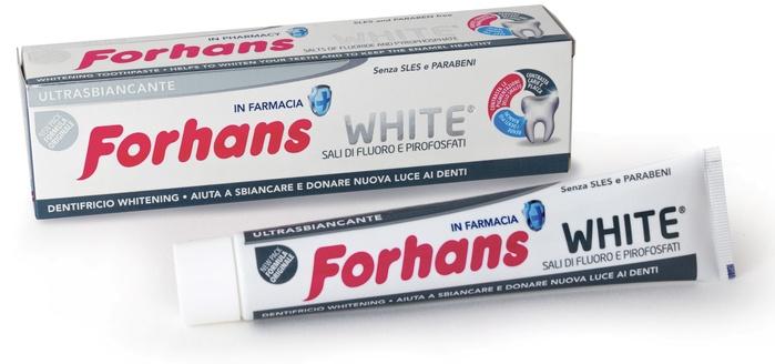 FORHANS SP WHITE DENTIF 75ML - Farmaunclick.it