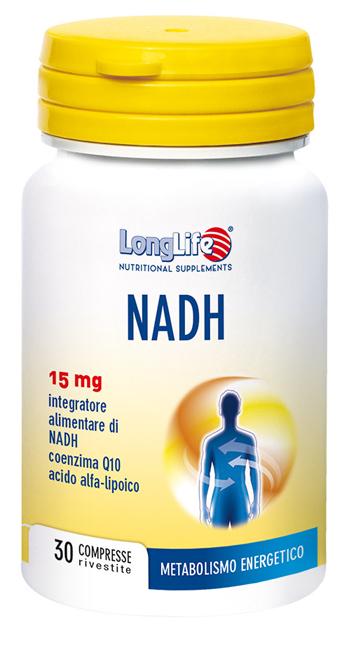 LONGLIFE NADH C/Q10 30 COMPRESSE - Farmajoy