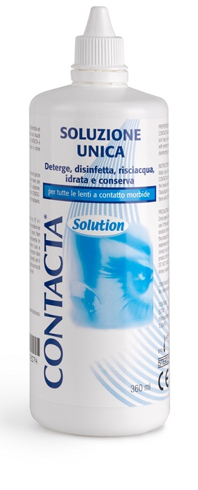 SOLUZIONE UNICA ISOTONICA PER LENTI A CONTATTO CONTACTA DA 360ML - Farmafamily.it