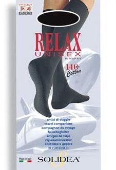 Solidea Relax Unisex 140 DEN Gambaletto Compressivo Colore Nero Taglia 4