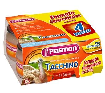 PLASMON OMOGENEIZZATO TACCHINO 4 X 80 G CON GIFT - Parafarmacia Tranchina