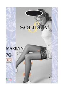 Solidea Marilyn Sheer 70 DEN Calza Autoreggente Compressiva Colore Sabbia Taglia 4